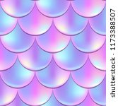 mermaid or fish scale seamless... | Shutterstock .eps vector #1173388507