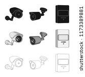 vector design of cctv and... | Shutterstock .eps vector #1173389881