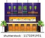 interior scene of modern pub... | Shutterstock .eps vector #1173391951