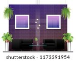 interior scene of modern... | Shutterstock .eps vector #1173391954