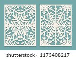 laser cut panels with... | Shutterstock .eps vector #1173408217