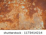 Small photo of Brown Metal rust grunge background texture. Rusted, old, vintage, retro background texture on brown metal or iron plate surface. Industrial obsolete concept image