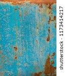 blue metal rust grunge... | Shutterstock . vector #1173414217