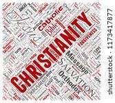 vector conceptual christianity  ... | Shutterstock .eps vector #1173417877