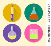 icons of chemical glassware | Shutterstock .eps vector #1173424987