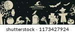 seamless pattern for halloween... | Shutterstock .eps vector #1173427924