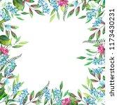 frame of watercolor lavender... | Shutterstock . vector #1173430231