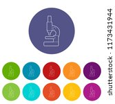 microscope icons color set for... | Shutterstock . vector #1173431944