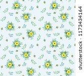 pattern of bouquets of summer... | Shutterstock . vector #1173434164