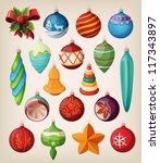 Set Of Vintage Christmas Balls...