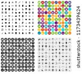 100 cleaning icons set in 4... | Shutterstock . vector #1173439624