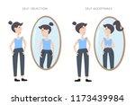 illustration of self rejection... | Shutterstock .eps vector #1173439984