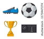 vector illustration of soccer... | Shutterstock .eps vector #1173447274
