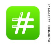 hashtag icon green isolated on...   Shutterstock . vector #1173449524