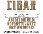 font handcrafted typeface...   Shutterstock .eps vector #1173453031