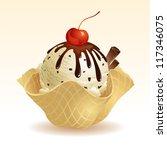 vanilla chocolate chip ice... | Shutterstock .eps vector #117346075