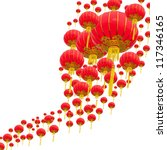 chinese lanterns withe white... | Shutterstock . vector #117346165