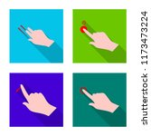 isolated object of touchscreen... | Shutterstock .eps vector #1173473224