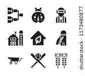 grass icon. 9 grass vector... | Shutterstock .eps vector #1173480877