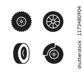 rim icon. 4 rim vector icons...   Shutterstock .eps vector #1173480904