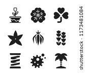 flora icon. 9 flora vector...   Shutterstock .eps vector #1173481084