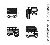 voyage icon. 4 voyage vector... | Shutterstock .eps vector #1173483511