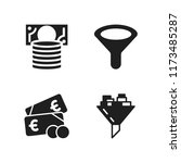 selling icon. 4 selling vector... | Shutterstock .eps vector #1173485287