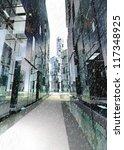 shinning and alight skyscraper... | Shutterstock . vector #117348925
