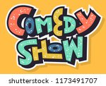 comedy show hand drawn... | Shutterstock .eps vector #1173491707