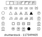 laundry symbols for washing... | Shutterstock . vector #117349405