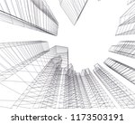 architecture building 3d vector ... | Shutterstock .eps vector #1173503191
