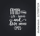 family where life begins and... | Shutterstock .eps vector #1173507124