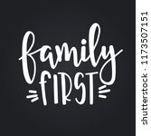 family first hand drawn... | Shutterstock .eps vector #1173507151