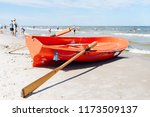 Lifeboat On The Sandy Beach  ...
