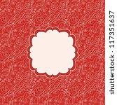 romantic card for invitation ... | Shutterstock .eps vector #117351637