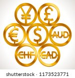 world currencies signs  dollar... | Shutterstock .eps vector #1173523771