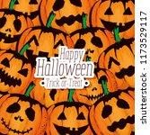 happy halloween card with... | Shutterstock .eps vector #1173529117