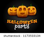 halloween background with three ... | Shutterstock .eps vector #1173533134