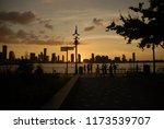 cityscape on the hudson river...   Shutterstock . vector #1173539707