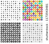 100 drawing icons set in 4... | Shutterstock . vector #1173543481