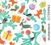 cute christmas seamless... | Shutterstock .eps vector #117354961