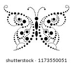 black lace butterfly on white... | Shutterstock .eps vector #1173550051