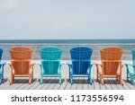 rear view of the colourful deck ... | Shutterstock . vector #1173556594