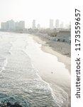 tel aviv city beach on a... | Shutterstock . vector #1173559657