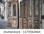 beatiful old doors of jaffa ... | Shutterstock . vector #1173562864
