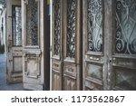 beatiful old doors of jaffa ... | Shutterstock . vector #1173562867