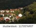 aerial view of thale town ... | Shutterstock . vector #1173576907
