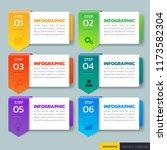 infographics design template 3d ... | Shutterstock .eps vector #1173582304
