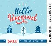 winter sale banner. winter... | Shutterstock .eps vector #1173587164