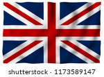waving flag of the great... | Shutterstock . vector #1173589147